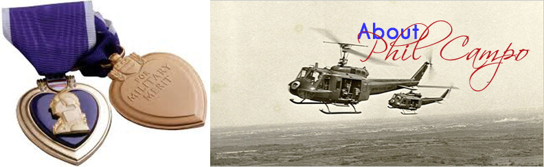 Phil Purple Heart and Helicopter Image